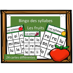 Bingo des syllabes - Les fruits