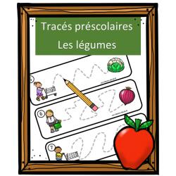 Tracés préscolaires - Les légumes