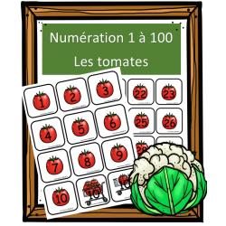 Numération 1 à 100 - Les tomates