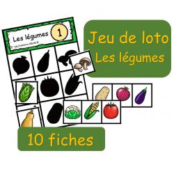 Jeu de loto - Ombres - Les légumes