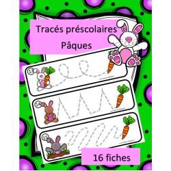Tracés préscolaires - Lapins et carottes