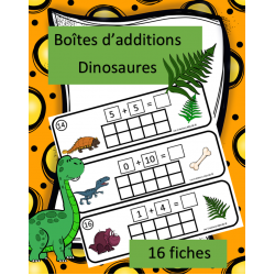 Boîtes d'additions - Dinosaures
