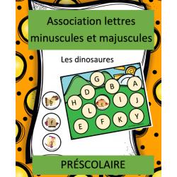 Association lettres - Dinosaures