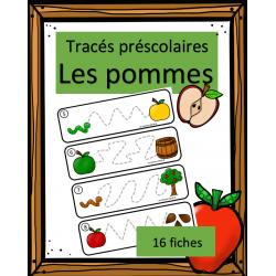 Tracés préscolaires - Pommes