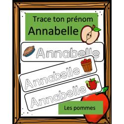 Trace ton prénom - Annabelle - Pommes