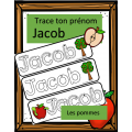 Trace ton prénom - Jacob - Pommes