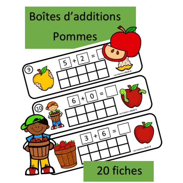 Boîtes de dix - additions - Pommes