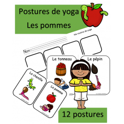 Postures de yoga - Les pommes