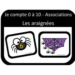 Associations nombres - Araignées