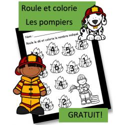 Roule et colorie - Pompiers