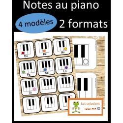 Notes au piano