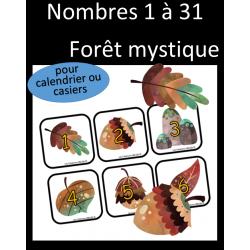 Nombres - Calendrier - Forêt mystique