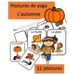Posture de yoga - Automne