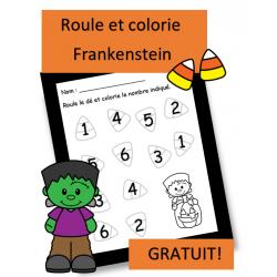 Roule et colorie - Frankenstein