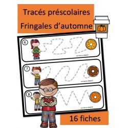 Tracés préscolaires - Fringales d'automne