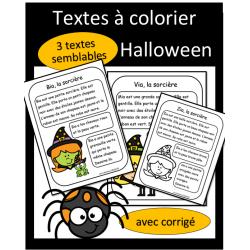 Textes à colorier - Sorcières
