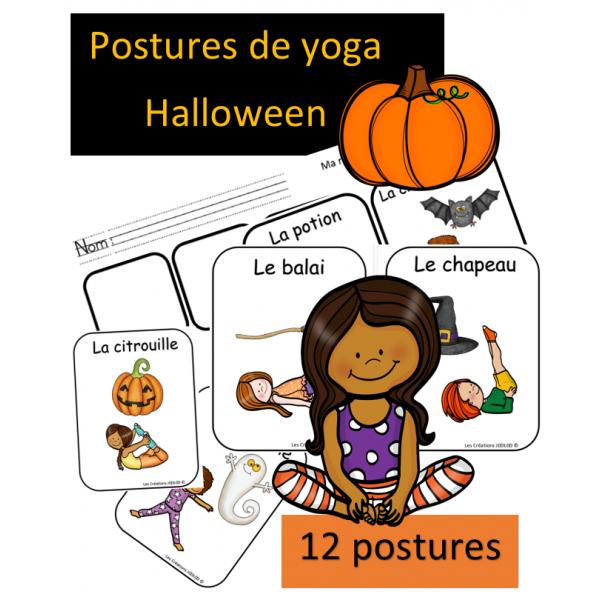 Postures de yoga - Halloween
