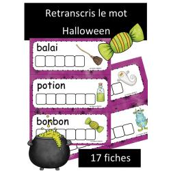 Retranscris le mot - Halloween