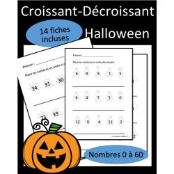 Ordre croissant - décroissant - Halloween