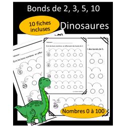 Bonds de 2, 3, 5, 10 - Dinosaures