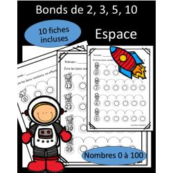 Bonds de 2, 3, 5, 10 - Espace