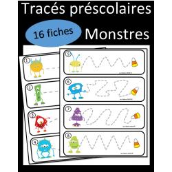 Tracés préscolaires - Monstres 2