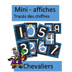 Mini affiches - Tracés des chiffres - Chevaliers