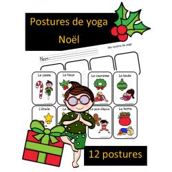 Postures de yoga - Noel