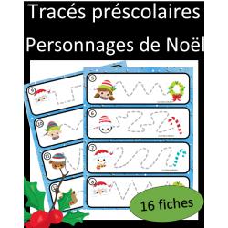 Tracés préscolaires - Personnages de Noel