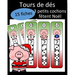 Tours de dés - Cochons de Noel