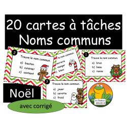 Cartes à tâches - Nom commun - Noel