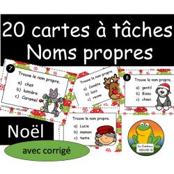 Cartes à tâches - Noms propres - Noel