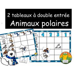 2 tableaux à double entrée - Animaux polaires