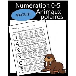Numération 0-5 - Animaux polaires