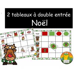 2 tableaux à double entrée - Noel
