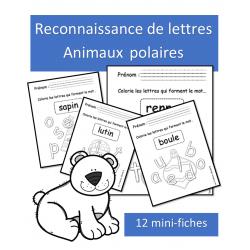 Lettres à reconnaitre - Animaux polaires