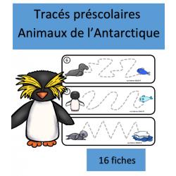 Tracés préscolaires - Animaux de l'Antarctique