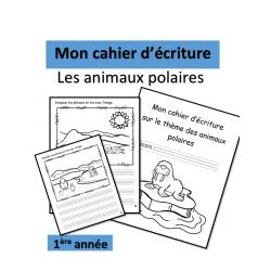 Cahier écriture - Animaux polaires