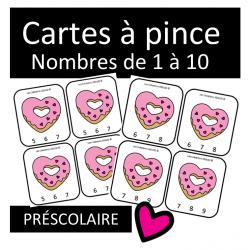 Cartes à pinces - Coeurs