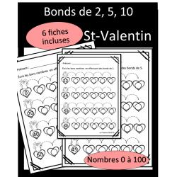 Bonds de 2, 5, 10 - St-Valentin