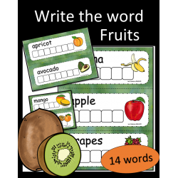 Write the word - Fruits