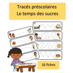 Tracés préscolaires - Sucre