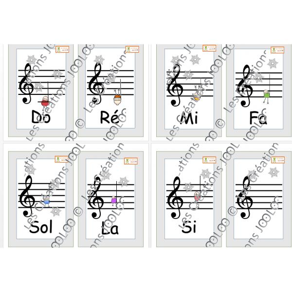 Notes de musique - Blanches