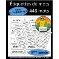 Liste orthographique - 3ème année
