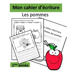 Cahier d'écriture - Pommes