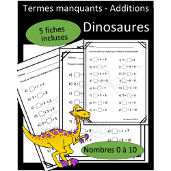 Additions - Termes manquants - Dinosaures