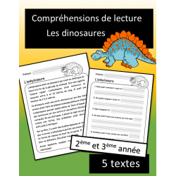 5 petites lectures - Dinosaures