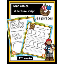 Cahier d'écriture script - Les pirates