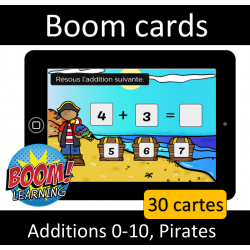 Additions 0-10 - Pirates - Boom cards
