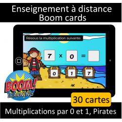 Multiplications par 0 et 1 - Pirates - Numérique